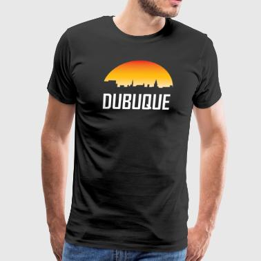 Dubuque Iowa Sunset Skyline - Men's Premium T-Shirt