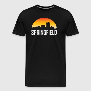 Springfield Missouri Sunset Skyline - Men's Premium T-Shirt