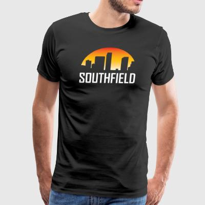 Southfield Michigan Sunset Skyline - Men's Premium T-Shirt