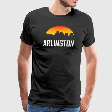 Arlington Virginia Sunset Skyline - Men's Premium T-Shirt