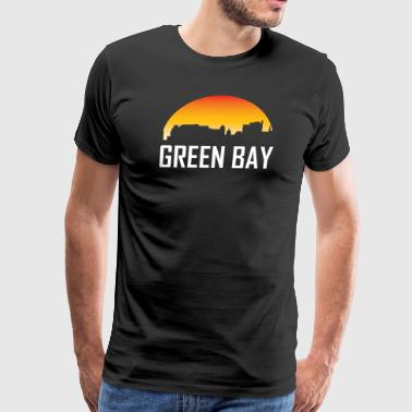 Green Bay Wisconsin Sunset Skyline - Men's Premium T-Shirt