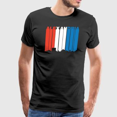 Red White And Blue Alexandria Louisiana Skyline - Men's Premium T-Shirt