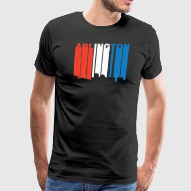 Red White And Blue Arlington Virginia Skyline - Men's Premium T-Shirt
