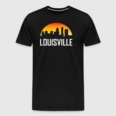 Louisville Kentucky Sunset Skyline - Men's Premium T-Shirt