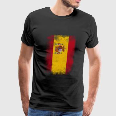 Spain Flag Proud Spanish Vintage Distressed Shirt - Men's Premium T-Shirt
