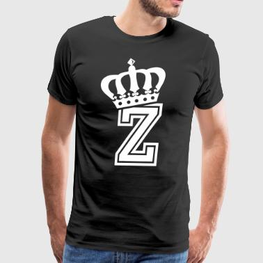 Name: Letter Z Character Z Case Z Alphabetical Z - Men's Premium T-Shirt