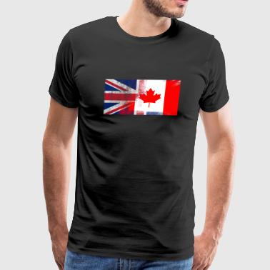British Canadian Half Canada Half UK Flag - Men's Premium T-Shirt