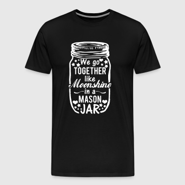 Together Moonshine Mason Jar - Men's Premium T-Shirt
