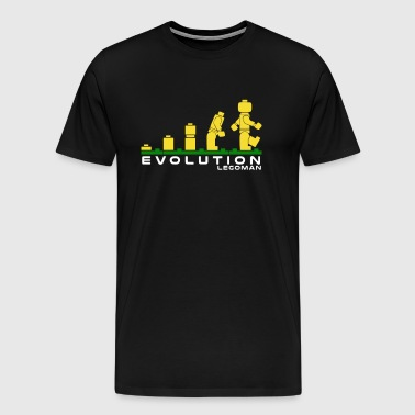 Evolution of Lego Man - Men's Premium T-Shirt