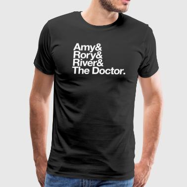 Amy & Rory & River & The Doctor. - Men's Premium T-Shirt