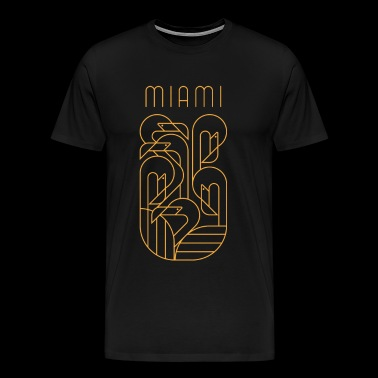 Miami Flamingo Gold - Men's Premium T-Shirt