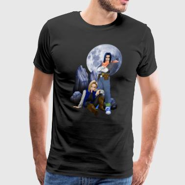 Cool Twin Cyborg T-shirt - Men's Premium T-Shirt