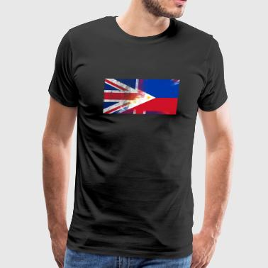British Filipino Half Philippines Half UK Flag - Men's Premium T-Shirt