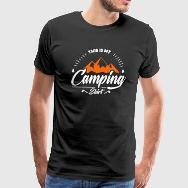 This is my camping shirt - funny camping tee - Men's Premium T-Shirt