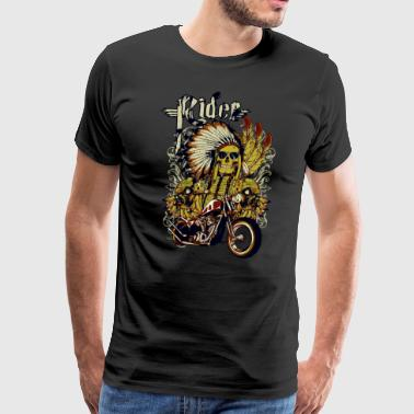 Tough Skull Ghost Rider - Men's Premium T-Shirt