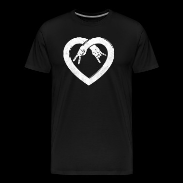 Peace Love Rock and Roll - Men's Premium T-Shirt