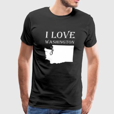 I LOVE WASHINGTON - Men's Premium T-Shirt