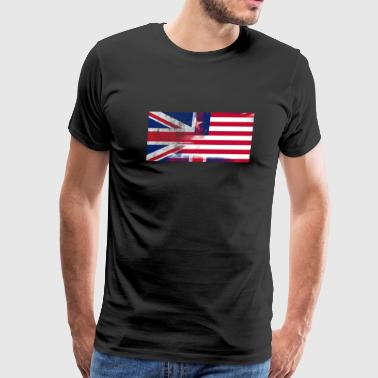 British Liberian Half Liberia Half UK Flag - Men's Premium T-Shirt