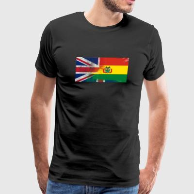 British Bolivian Half Bolivia Half UK Flag - Men's Premium T-Shirt