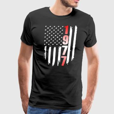 1977 American Flag 40th Birthday - Men's Premium T-Shirt