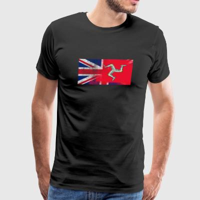British Manxman Half Isle of Man Half UK Flag - Men's Premium T-Shirt