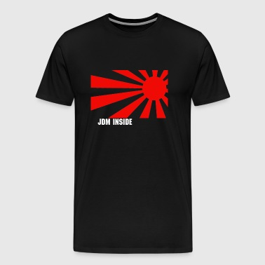 rising sun/ text - Men's Premium T-Shirt