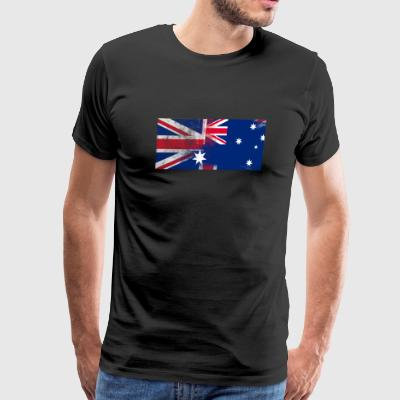 British Austrian Half Austria Half UK Flag - Men's Premium T-Shirt