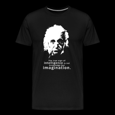 Albert Einstein Quote - Men's Premium T-Shirt