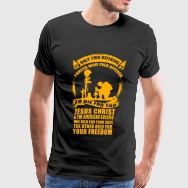 Veteran - Military Veteran Soldier Jesus Christ - Men's Premium T-Shirt