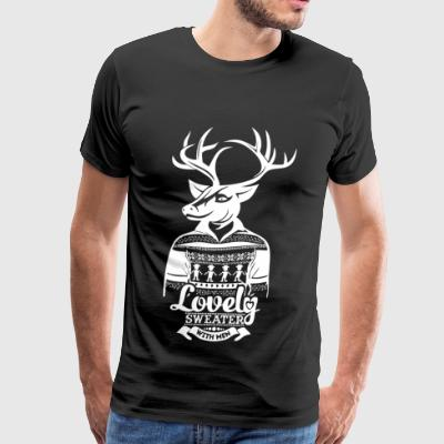 Deer Deer lovely sweater with men - Men's Premium T-Shirt
