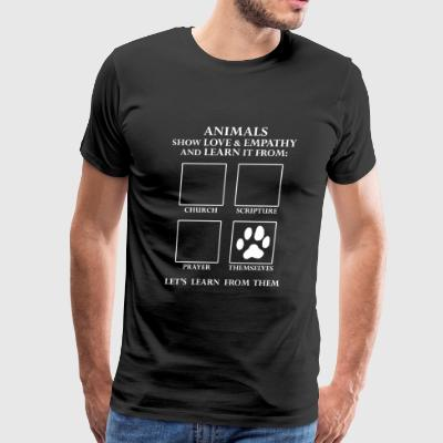 Animal - Animals Love Without Religion -- Let's - Men's Premium T-Shirt