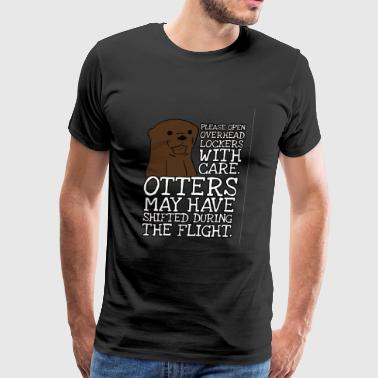 Otter - Otters may have shifted during the fligh - Men's Premium T-Shirt