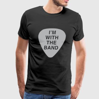 Guitar - I'm with the band - Men's Premium T-Shirt