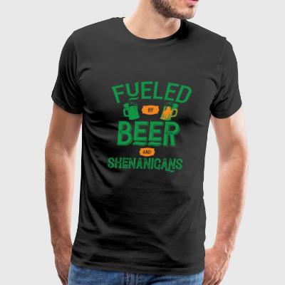 Shamrock - Fueled By Beer And Shenanigans - Men's Premium T-Shirt