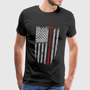 Snooker - Awesome pool flag t-shirt for american - Men's Premium T-Shirt