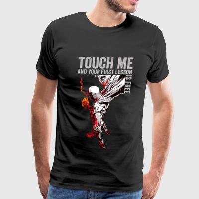 One punch man - Touch me and get free lesson - Men's Premium T-Shirt