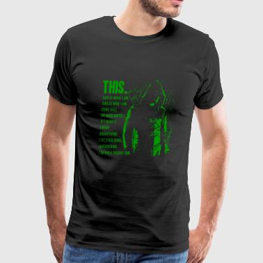 Green arrow - This is what I am awesome t-shirt - Men's Premium T-Shirt
