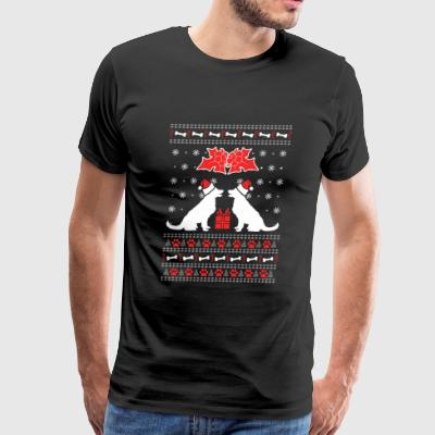 Ugly Christmas Sweater - Dogs Lover - Men's Premium T-Shirt