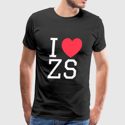 I ♥ ZS Black - Men's Premium T-Shirt