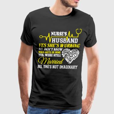 Nurse's Husband T Shirt - Men's Premium T-Shirt