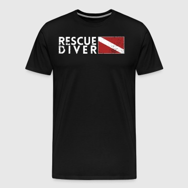 Rescue Diver Flag Search Rescue Diver Shirt Scuba Shirt - Men's Premium T-Shirt