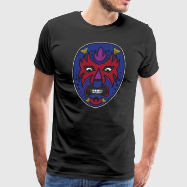 Mexican Wrestler Mask Mexican Costume Halloween - Men's Premium T-Shirt
