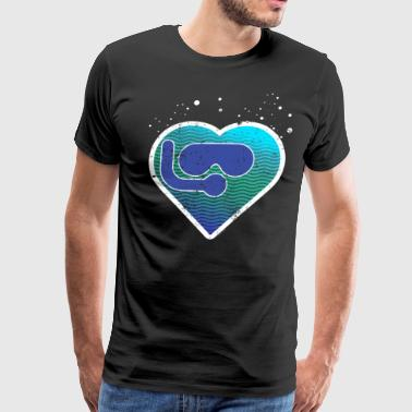 Scuba Love Suba Diving Heart Scuba Dive Shirt Scuba Diver - Men's Premium T-Shirt