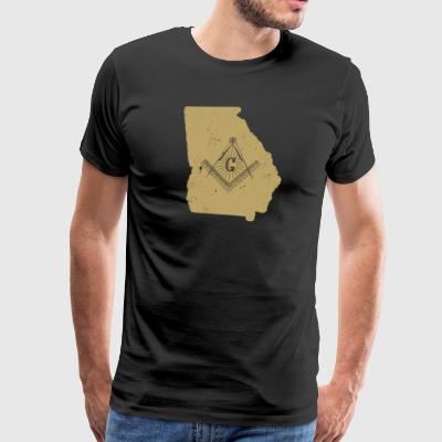 Georgia Freemason Shirt With Freemason Emblem - Men's Premium T-Shirt