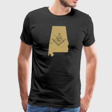 Alabama Freemason Shirt With Freemason Emblem - Men's Premium T-Shirt