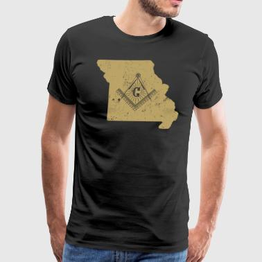 Missouri Freemason Clothing Masonic Clothing - Men's Premium T-Shirt