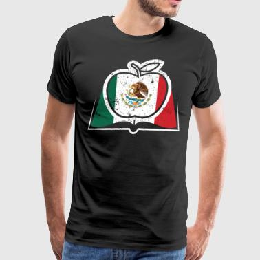 Spanish Teacher Super Teacher Mexico Flag - Men's Premium T-Shirt