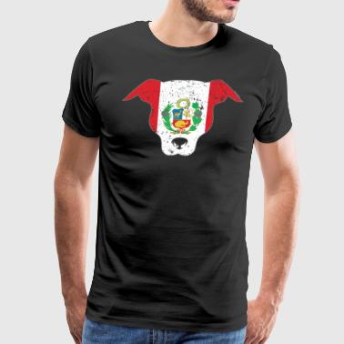 Cute Puppy Peru Flag Peruvian Flag - Men's Premium T-Shirt