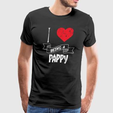 I Love Being A Pappy - Men's Premium T-Shirt