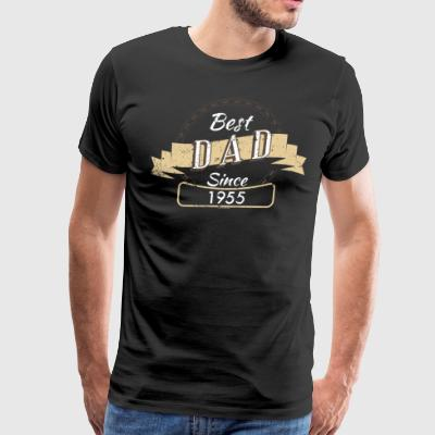 Best Dad 1955 Funny T Shirt For Dad - Men's Premium T-Shirt
